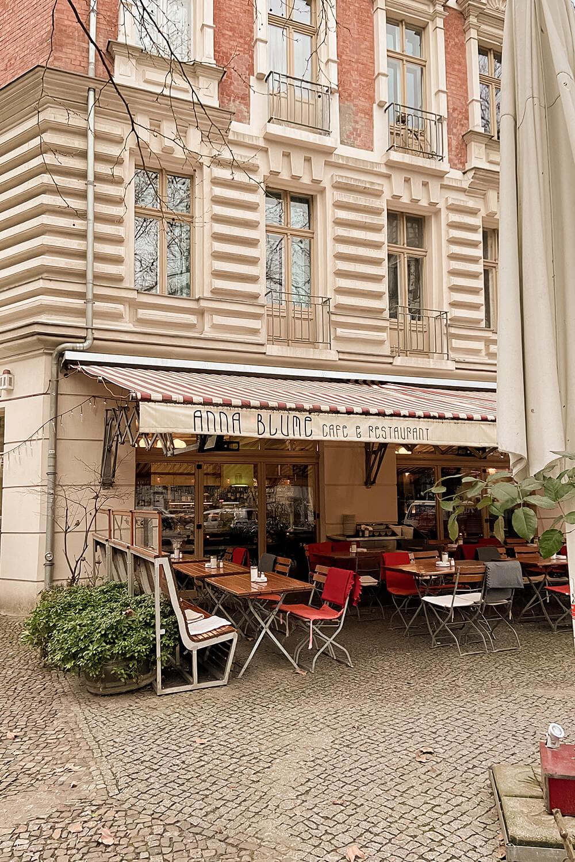 Café Anna Blume von außen in Berlin-Prenzlauer Berg
