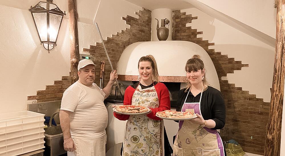 Pizza-Backkurs in Neapel