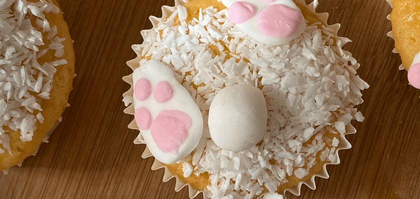 Ostermuffins - Hasen-Cupcakes