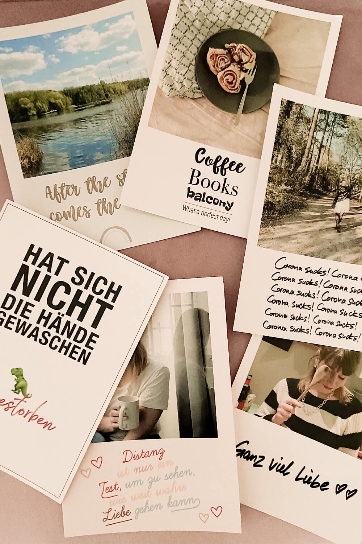 Auswahl an selbstgestalteten Solidaritätspostkarten mit MyPostcard