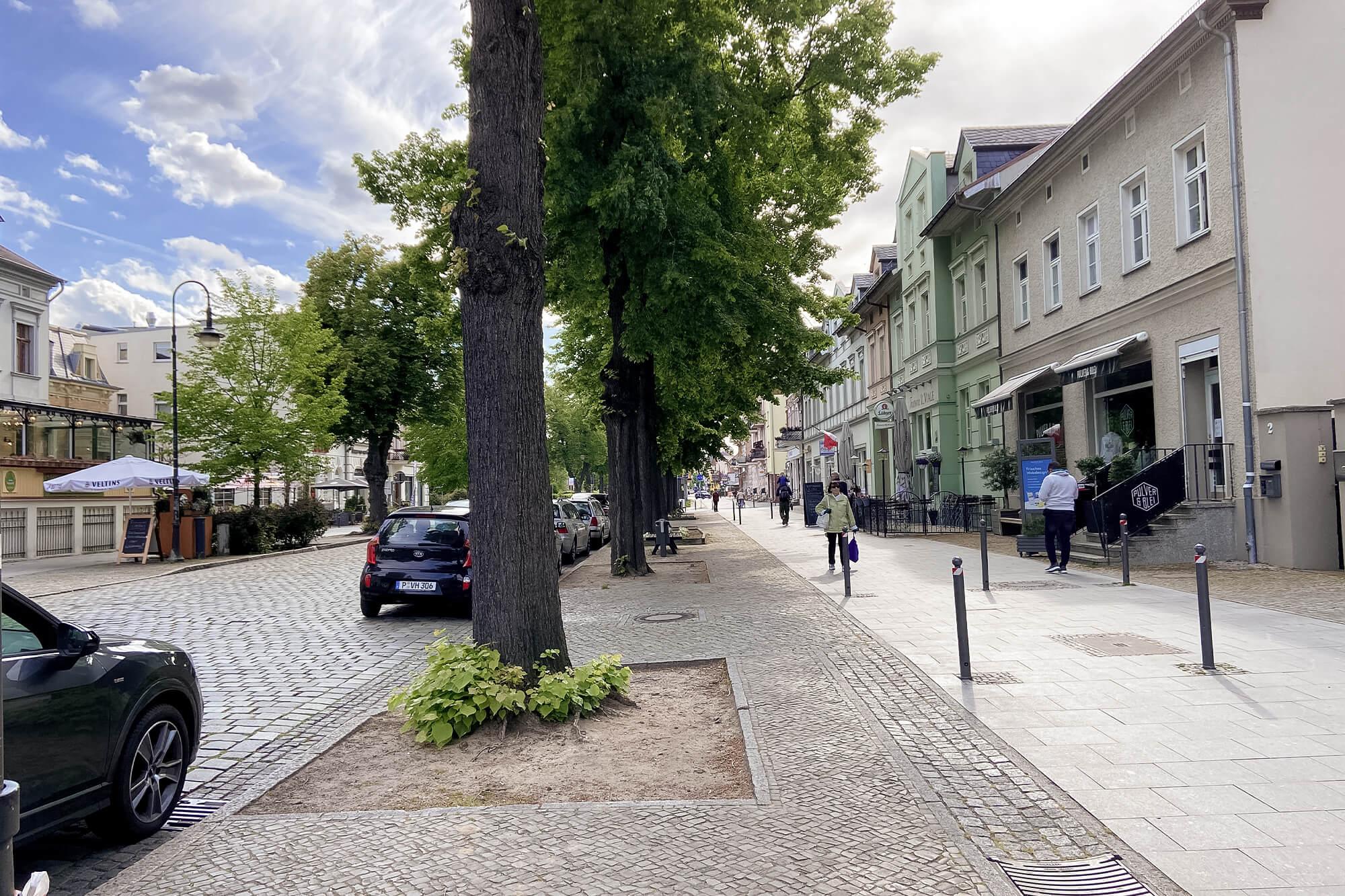 Einkaufsstraße in Werder an der Havel