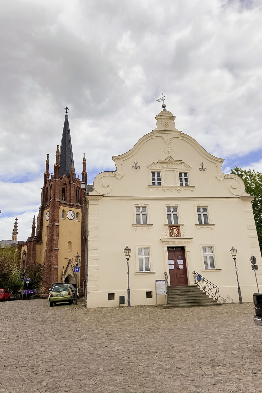 Heilig-Geist-Kirche und Touristeninformation in Werder an der Havel