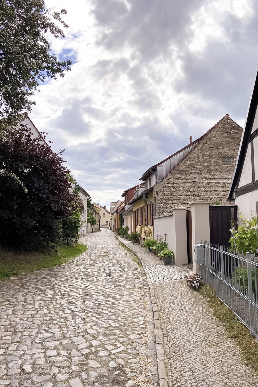 Gasse in der Altstadt in Werder an der Havel