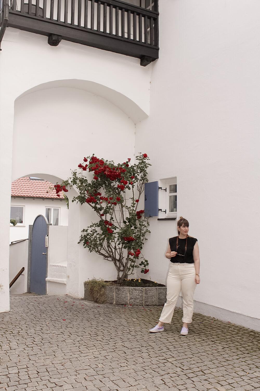 Rosengärtchen in der Frauengasse in Günzburg