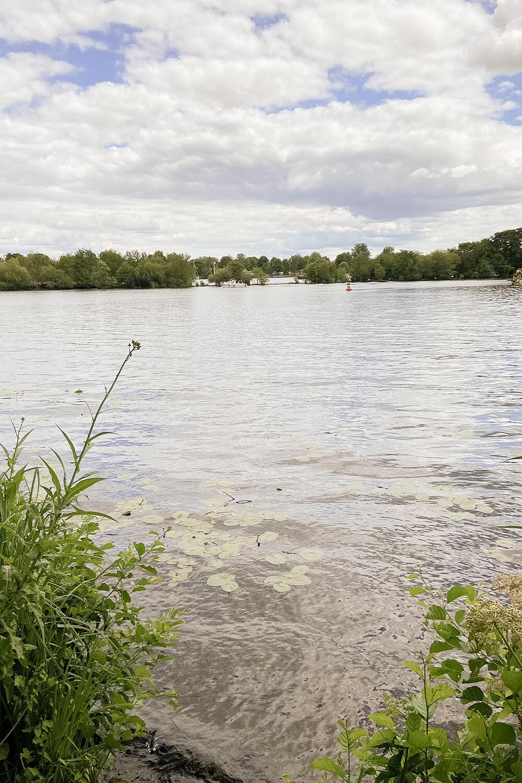 Blick auf den Nieder Neuendorfer See am Berliner Mauerweg