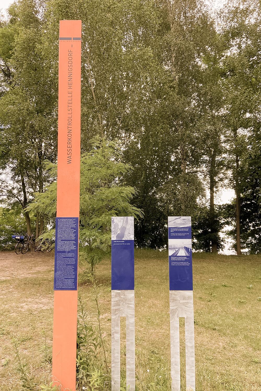 Gedenktafel Wasserkontrollstelle Henningsdorf Berliner Mauerweg