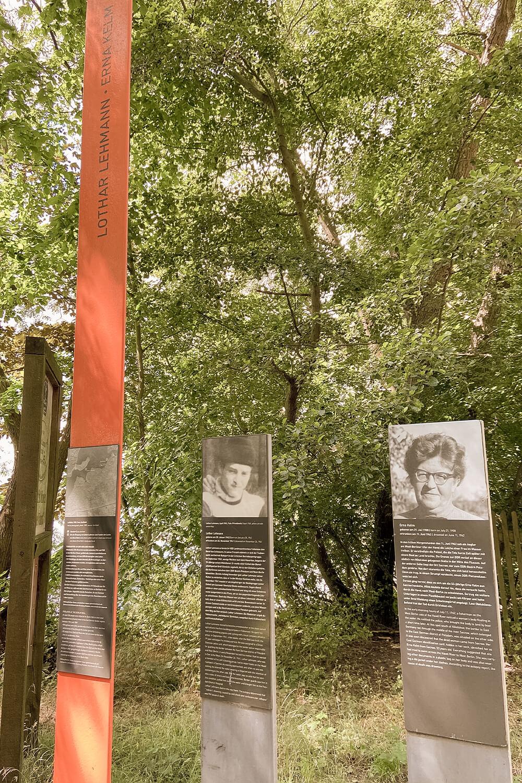 Todesgedenktafel am Berliner Mauerweg