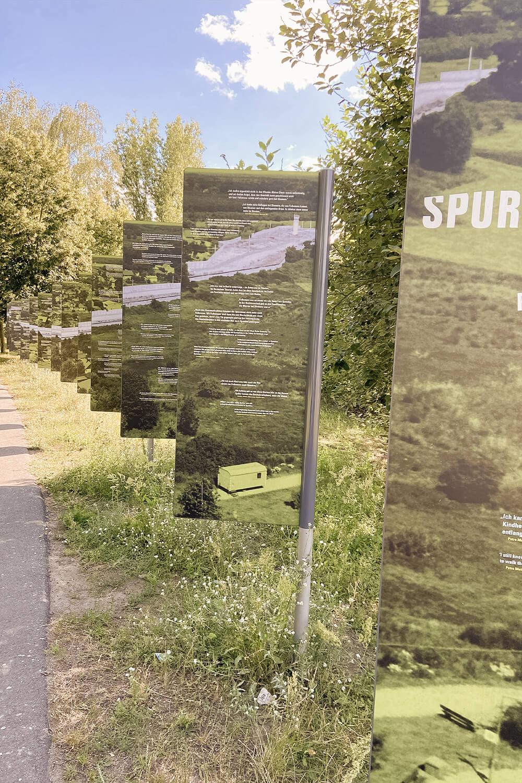 Zeitzeugentafeln in Spandau am Berliner Mauerweg
