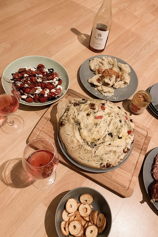 Italienisches Essen und Wein vom Weinkontor Wetzel