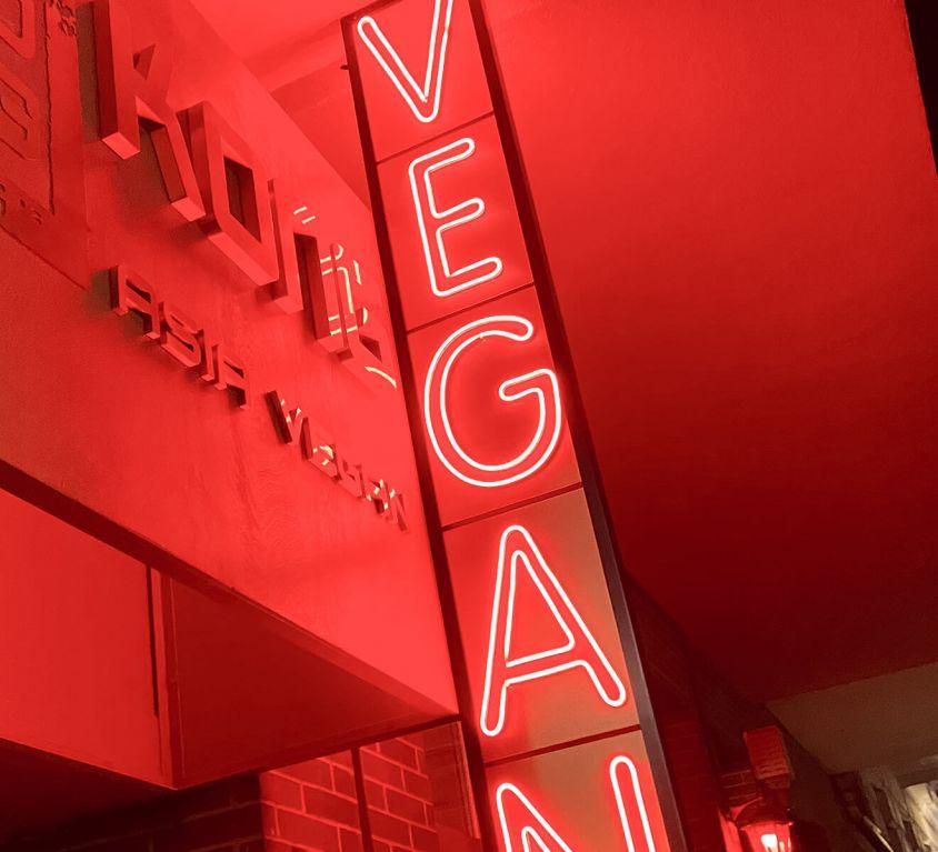 Neonschild Vegan