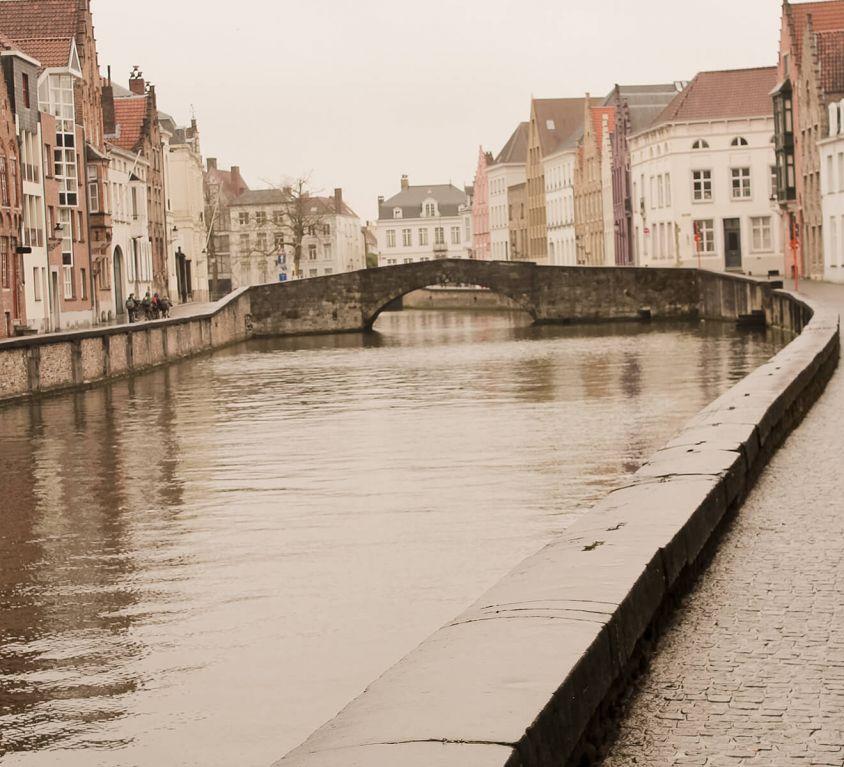 Fluss in Brügge