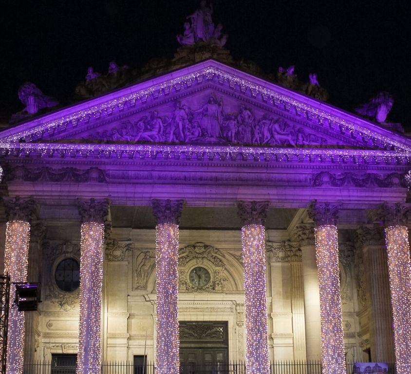 Brüssel in Weihnachtsbeleuchtung