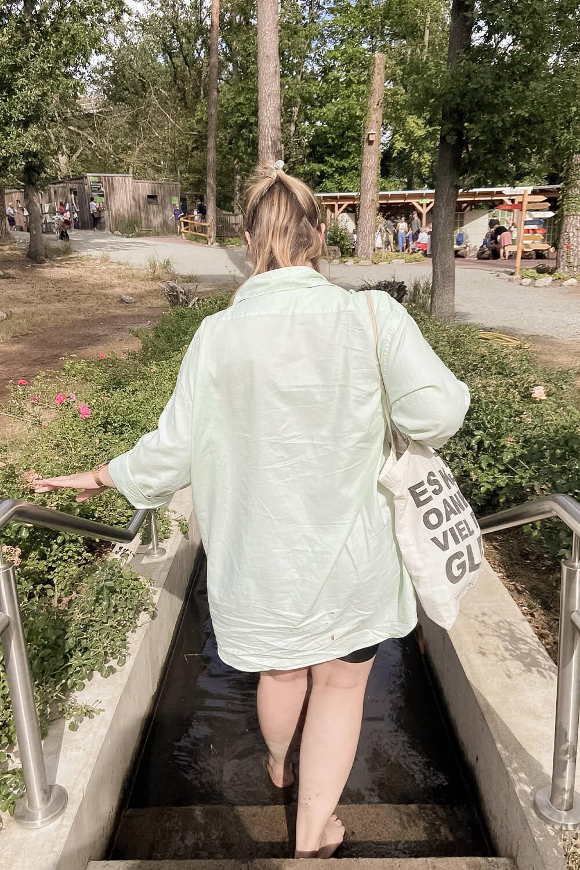 Kneipbecken im Barfußpark Beelitz