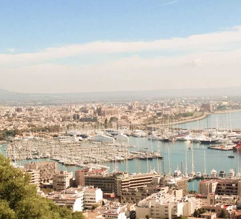 Blick auf den Hafen von Palma de Mallorca