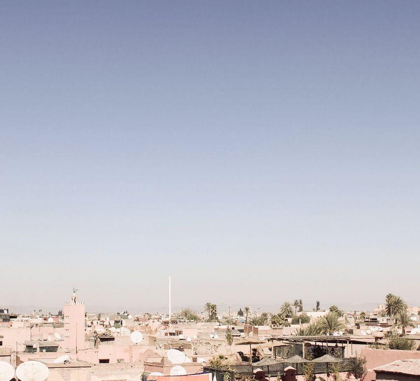 Blick über Marrakesch