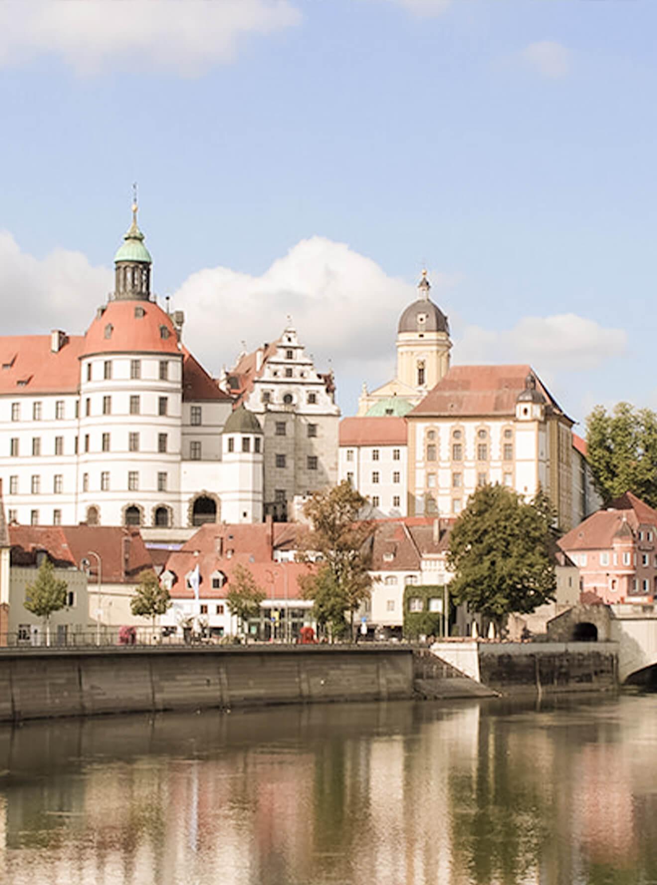 Blick aufs Neuburg Schloss