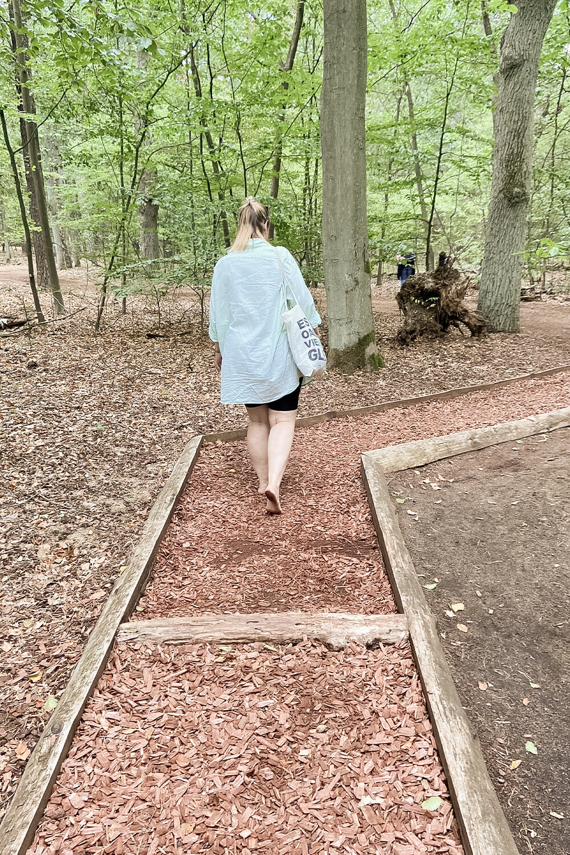 Rindenboden im Barfußpark Beelitz
