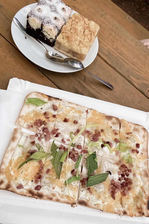 Essen im Barfußpark Beelitz