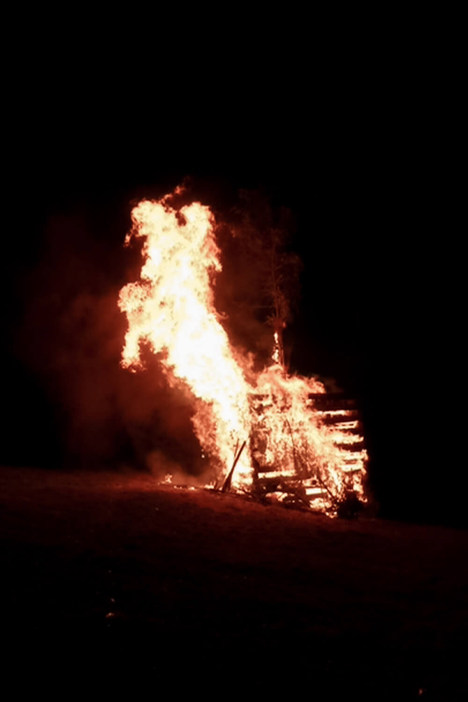 Brennendes Funkenfeuer