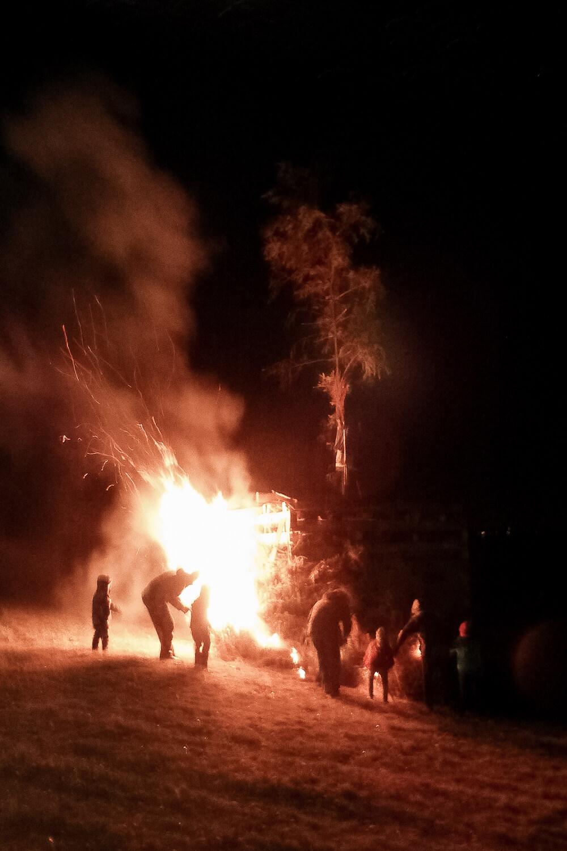 Brennender Funken in Weissenhorn