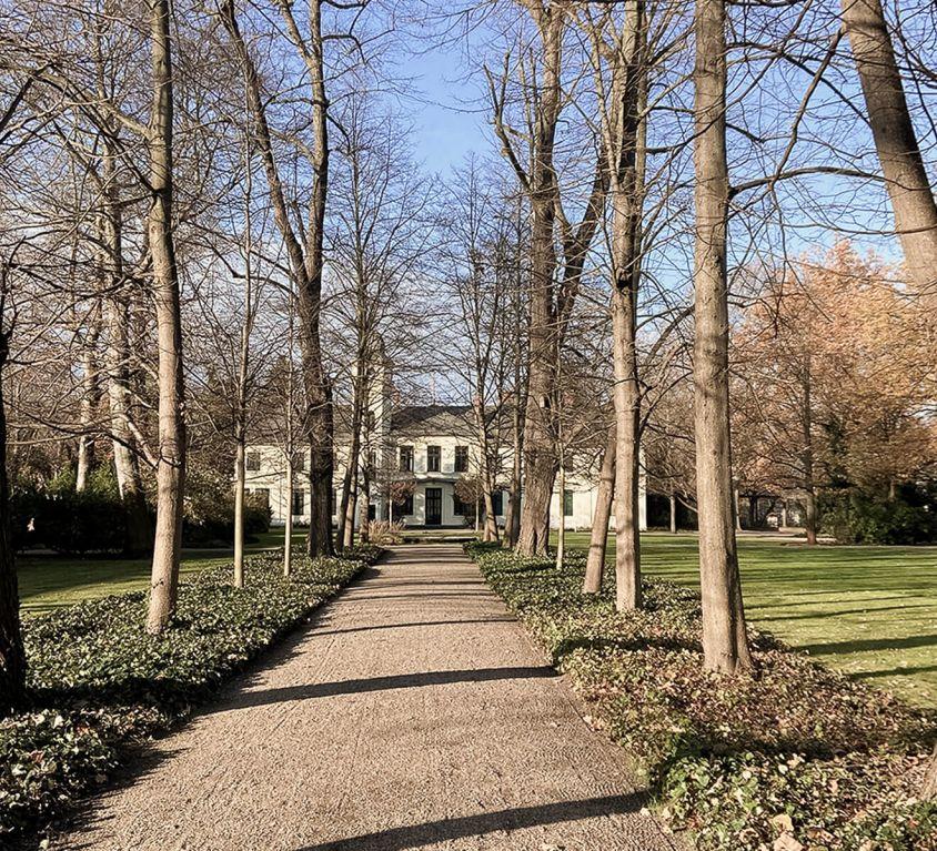 Lindenallee im Schlosspark Britz