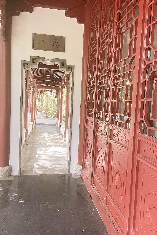 Gang im Chinesischen Garten