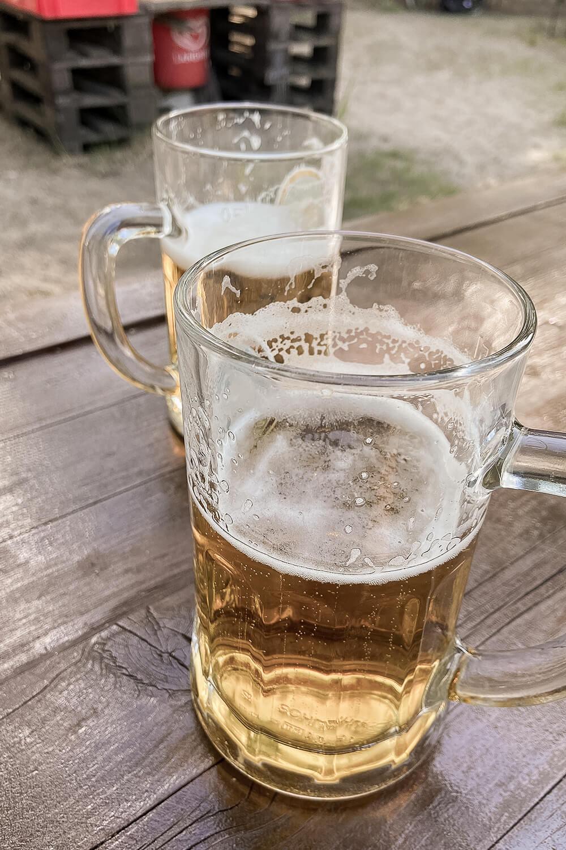 Büble Bier im Biergarten Moabiter Freiheit
