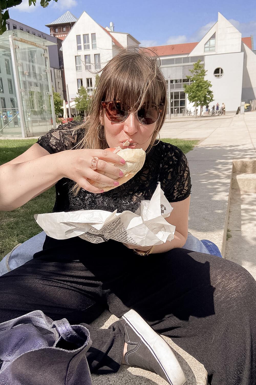 Fischbrötchen essen in Greifswald