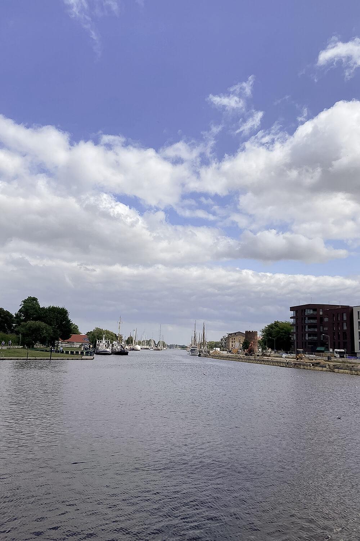 Hafenblick in Greifswald