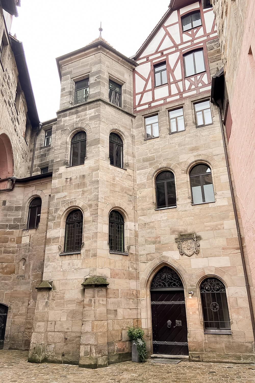 Innenhof der Wenzelsburg in Lauf an der Pegnitz