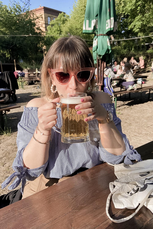 Biertrinken in der Moabiter Freiheit