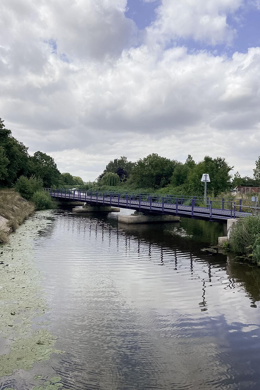 Blick auf die Ryk in Greifswald