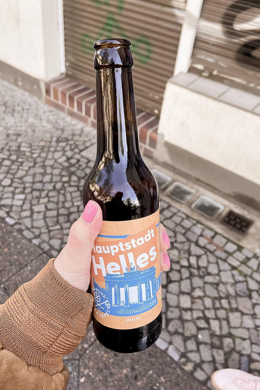 Hauptstadt-Helles in der Flasche