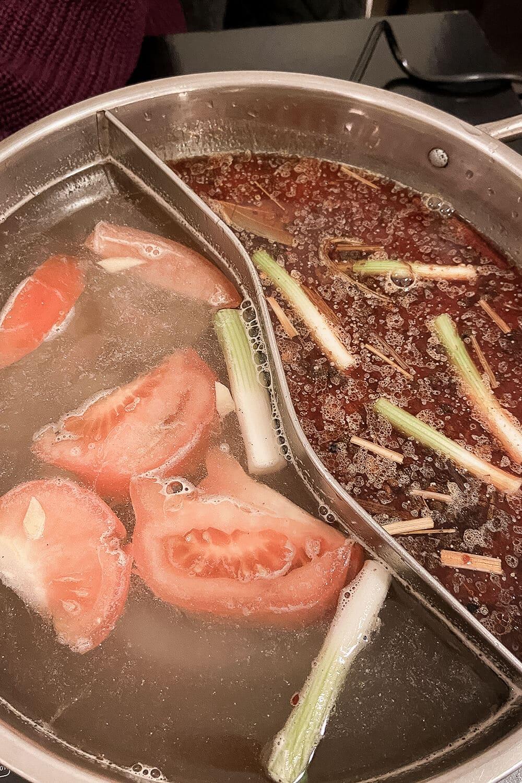 Hot pot essen im Lei's Kitchen im Wedding