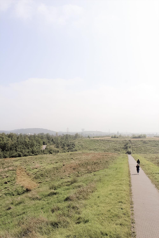 Wanderweg zum Haldenturm in Hamm