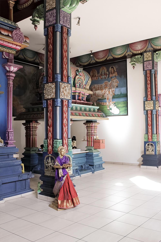 Hindu-Tempel in Hamm von Innen