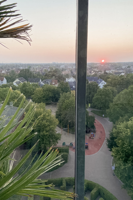 Ausblick vom gläsernen Elefanten im Maximilianpark in Hamm