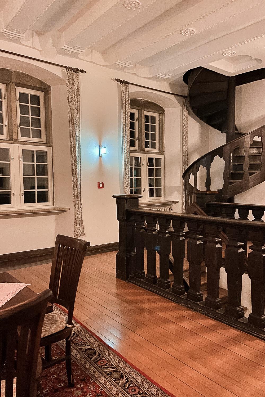Treppen im Schloss Oberwerries in Hamm