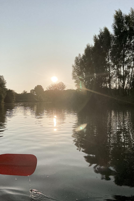 Lippe bei Sonnenuntergang in Hamm