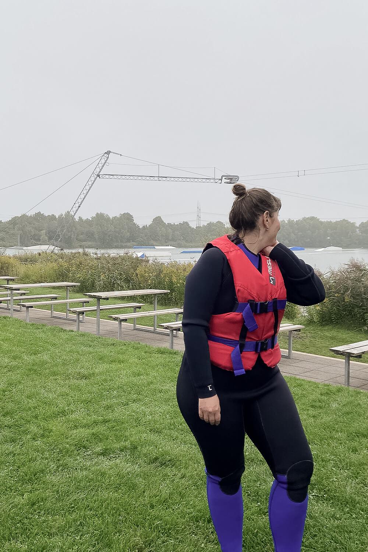 Beim Wasserski fahren in Hamm