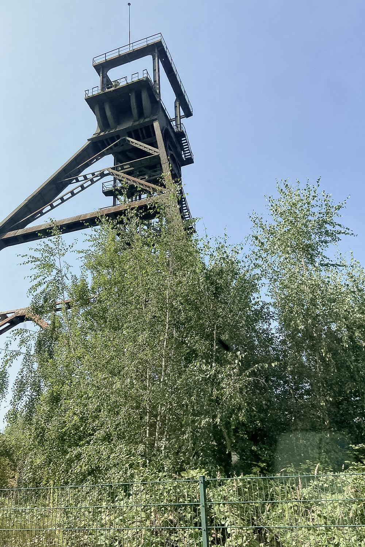 Förderturm in der Zeche Radbod in Hamm