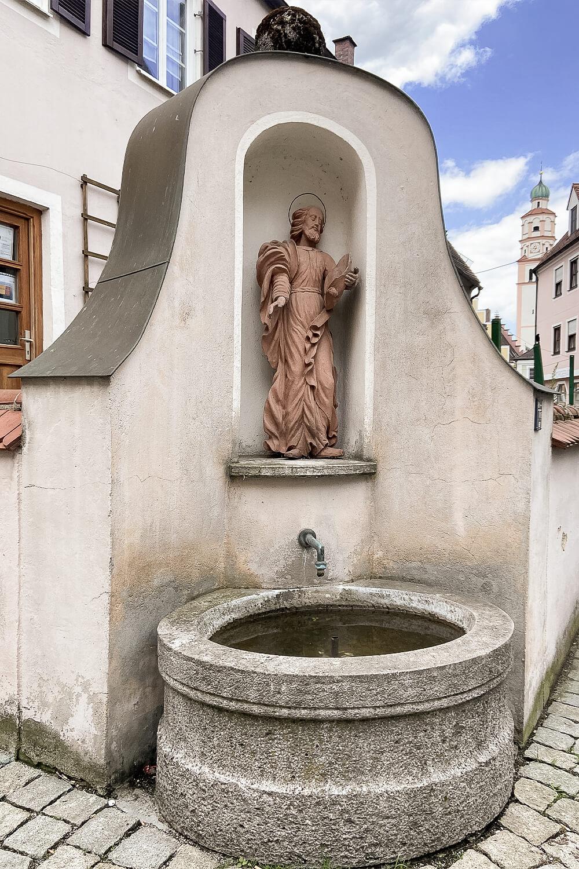 Brunnen in Altstadt von Schrobenhausen