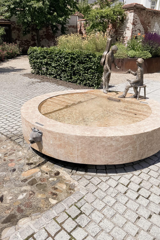 Musikerbrunnen in Schrobenhausen