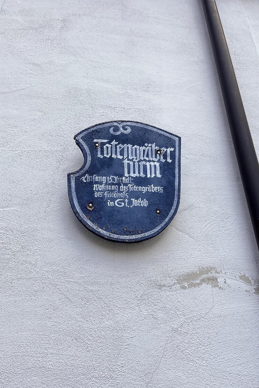 Schild Totengräbertrum Schrobenhausen